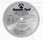 "Amana  LB10801 10"" MTC 80T 5/8"" Bore Plastic Cutting Non-Melt Saw Blade"