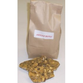 1 Pound Hazelnut Brittle in a Brown Bag