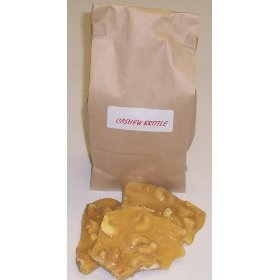 1 Pound Cashew Brittle in a Brown Bag