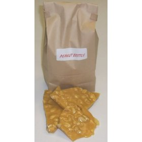 1 Pound Peanut Brittle in a Brown Bag