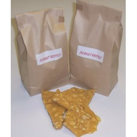 2 Pound Peanut Brittle in a Brown Bag