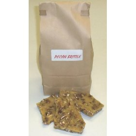 1 Pound Pecan Brittle in a Brown Bag