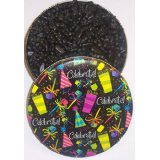 Black Licorice Gummie Bears in a Tin