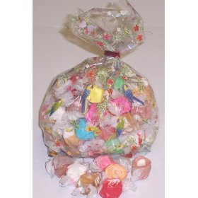 1 Pound Nougat Salt Water Taffy in a Decorative Bag