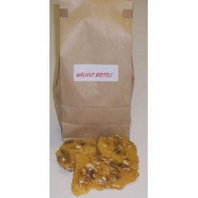 1 Pound Walnut Brittle in a Brown Bag