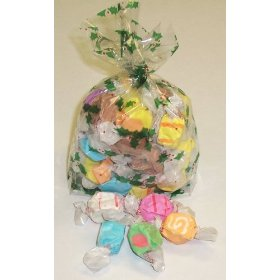 1/2 Pound of Nougat Salt Water Taffy in a Decorative Bag