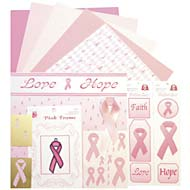 Pink Ribbon Scrapbook Kit (12x12) - Discontinued