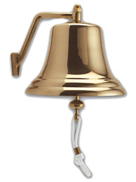 """8.5"""" Brass Bell (Made in Italy)"""