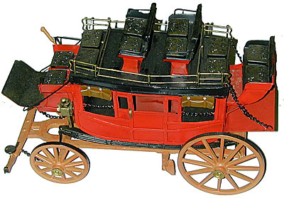 Replica Metal Old West Stage Coach