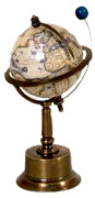 Mercator's Globe with orbiting Moon
