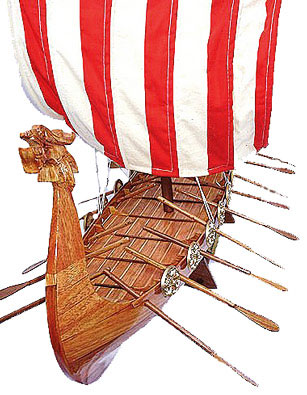 Assembled Wood Viking Boat