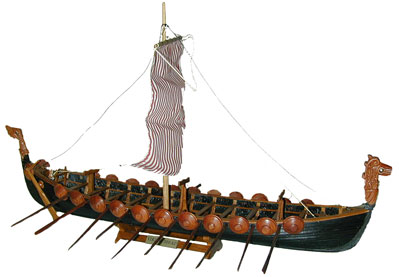 Assembled Viking Longboat  Model