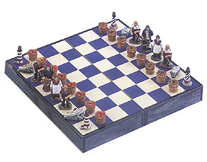 Nautical Chess Set with Crustacean Basket Pawns