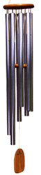 Gregorian Baritone Wind Chime: by Woodstock Chimes. (Made in USA), Cherry Wood, Silver Tubes,