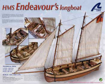 H.M.S. Endeavour Long Boat Box