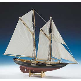 Bluenose Schooner Wood Model Boat