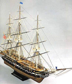 U.S.S. Constitution Wooden Model Kit by Mamoli