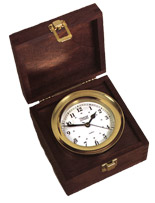 Nautical Box Chronometer Clock by Weems & Plath