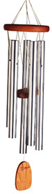 Wind Chimes of Bali: by Woodstock Chimes. Cherry Wood, Silver Tubes
