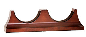 Contemporary Mahogany Double Base