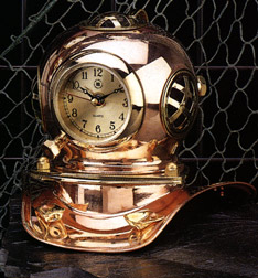 Diving  Helmet Nautical Quartz Clock