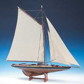 Pond Yacht Wood Model