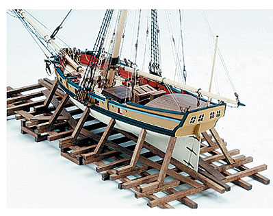 Armed Virginia Sloop Model Kit - Stern