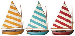 Set of Three Fun Sailor Model Sail Boats
