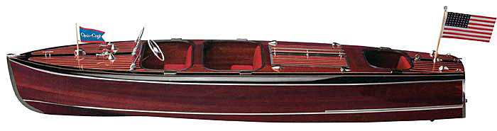 Triple Cockpit Chris Craft Barrelback Wood Model Boat Kit By Dumas