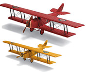 LARGE HANGING & DESKTOP WOOD MODEL AIRPLANES