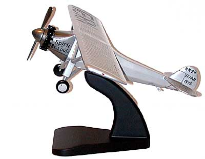 Spirit of St Louis Model with Stand