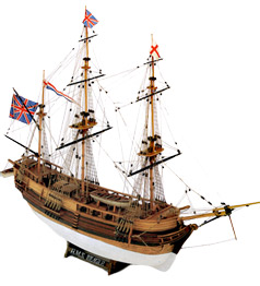 H.M.S.  Beagle  Wood Model Ship Kit by Mamoli