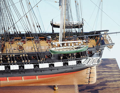Constitution Ship Model Side View