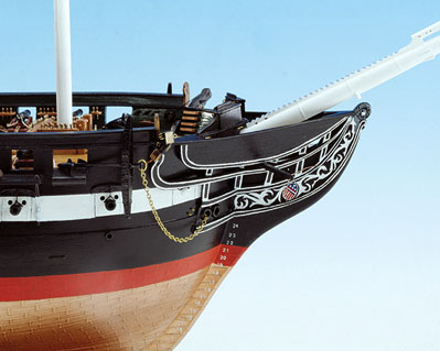 Constitution Ship Model Bow View