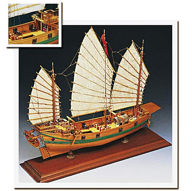 Side view of Amati Chinese Pirate Junk