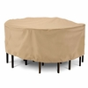 "Classic Terrazzo Round Patio Table & Chair Cover - Large 94""D"