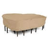 """Classic Terrazzo Patio Table And Chairs Cover - Large Rectangular-Oval 106.5""""L 82""""W"""