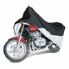 Classic Touring Motorcycle Cover Up To 1500 cc Full Dress Black / Silver