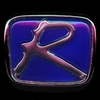 "Honda Type ""R"" Emblem Chrome & Blue Free Shipping!"