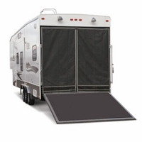 Toy Hauler Screen -  Fiberglass or Aluminum Frame Magnetic Attachment