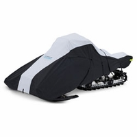 Deluxe Full Fit Snowwmobile Cover Black Large