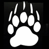 Bear Paw Vinyl Window Decal / Stickers