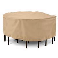 """Classic Terrazzo Round Patio Table & Chair Cover - Large 94""""D"""