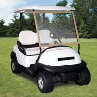 Portable Golf Cart Windshield Cover - Tan