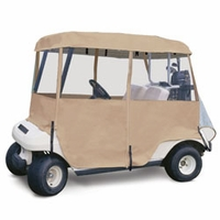 Deluxe 4 Sided Golf Car Enclosure - Sand