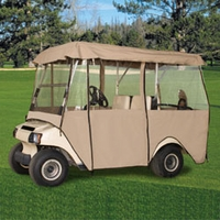 Deluxe 4 Passenger Golf Enclosure - Sand