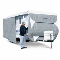 Classic Travel Trailer Cover 24' to 27' L - Model 4