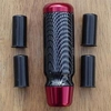 Red Aluminum & Carbon Fiber Manual Shifter Handle