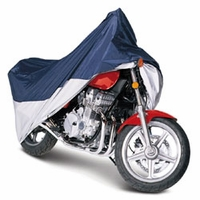 Classic Sport Motorcycle Cover Up To 1100 cc Blue / Silver