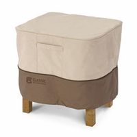 "Classic Veranda Ottoman-Side Table Cover - Small Rectangular 32""W x 22""L"